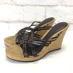 HILLARD & HANSON Wedge Sandals 8.5M
